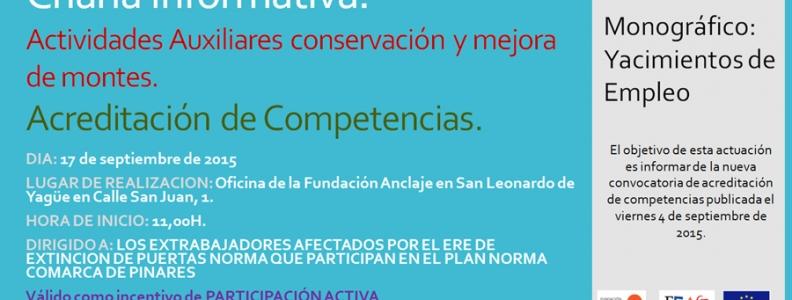 Jornada Informativa Acreditación de Competencias