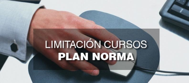 Limitación Cursos Plan Norma